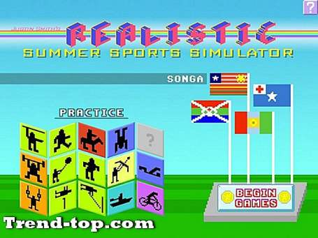 3 spill som Justin Smiths Realistic Summer Sports Simulator for PSP Sports Sport